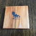 NZ Recycled Kauri Wooden Coasters with NZ Fantail Logo Set of six - Free shipping within NZ