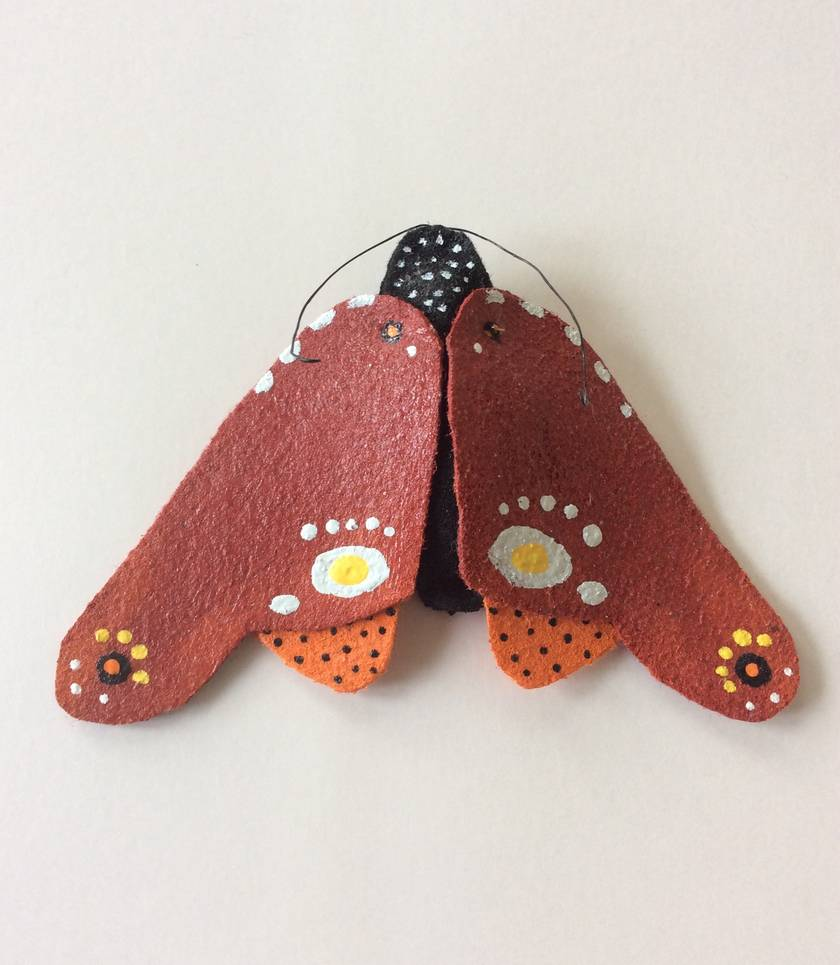 Original painted felt butterfly.