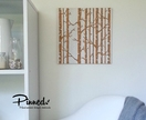 Birch forest design pinboard, hand painted cork board