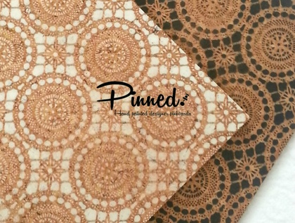 Lace design pinboard, Morrocan hand painted cork board