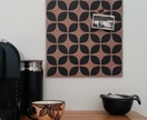 Retro flower pinboard, Pasifika flower hand painted cork board