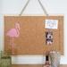 Flamingo design pinboard, handpainted cork board