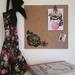Rose design pinboard, hand painted cork board