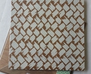 Basket weave design pinboard, hand painted cork board
