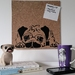 Pug design pinboard, hand painted cork board