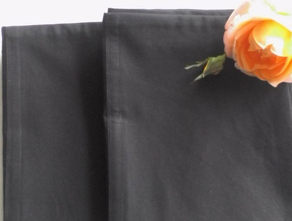Pair-Queen Size Pillow Cases 100% Cotton-Black