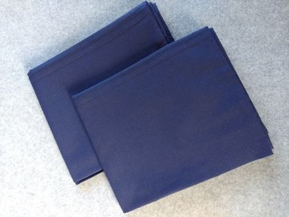 Pair Navy King Size Pillow Cases (Fit Bambillo)