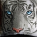 ***SALE** White Tiger Cushion and Cover Set -WAS.. $39.99..NOW...$34.99!!