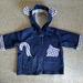 'Peek A Boo Cat' Hooded Denim Jacket