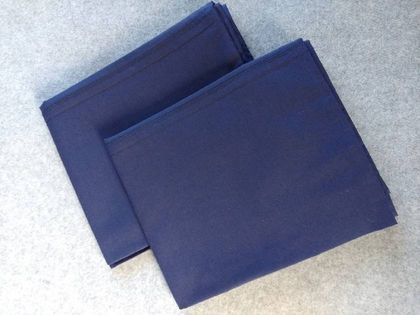 **SALE** Pair Navy Queen Size Pillow Cases (Fit Bambillo)