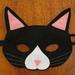 Black cat felt mask, soft & durable for kids' imaginative play