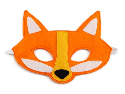 Harold the Fox - Felt mask for kids' imaginative play