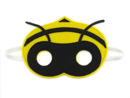 Beatrice the Bee - Felt mask for kids' imaginative play