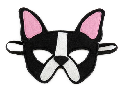 Chloe the French Bulldog - Felt mask for kids' imaginative play