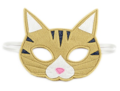 Alfred the Tabby Cat - Felt mask for kids' imaginative play