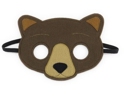 George the Bear - Felt mask for kids' imaginative play