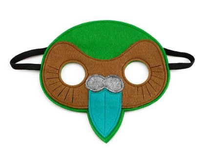 Kerry the Kakapo - Felt mask kids' imaginative play
