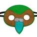 Kerry the Kakapo - Felt mask kids' imaginative play