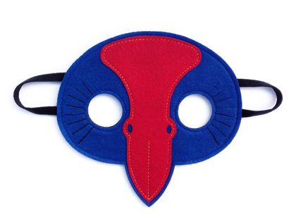 Peter the Pukeko - Felt mask kids' imaginative play