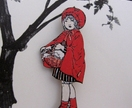 Little red brooch