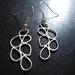 Silver falling rain earrings