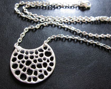 sale - Silver crescent moon necklace