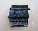 Typewriter brooch - large version