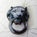 Knock knock - Vintage Lion door knocker brooch