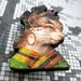 sale -  Kitsch kitty brooch, cat in Egyptian costume