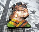 sale -  Kitsch kitty brooch, cat in Egyptian costume