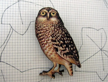 watchful owl brooch