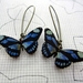 blue and black butterfly earrings