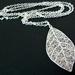sale - silver leaf skeleton necklace