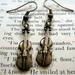 sale - Little violin earrings