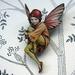 Flower fairy brooch - autumn