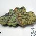 vintage map cloud woodcut brooch