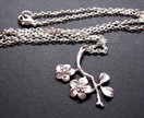 Elegant cherry blossom necklace