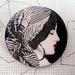 vintage gypsy image brooch
