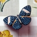 blue spotted butterfly brooch