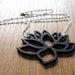 Lotus flower necklace in black