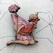 Flower fairy brooch - pink and orange