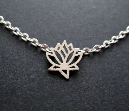little lotus flower necklace