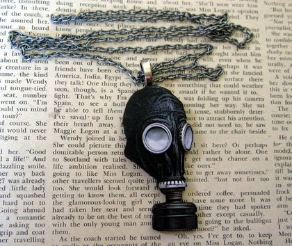 Gasmask necklace