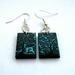 Light turquoise deer in forest earrings