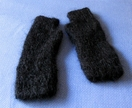 20% off with voucher code SALE - Black hand knitted 100% mohair fingerless gloves