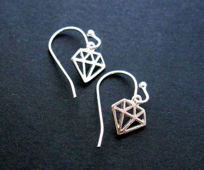 girl's best friend earrings - silver