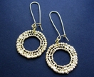 gold 'lace' circle earrings