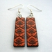 orange lotus earrings