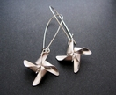 Silver pinwheel earrings