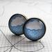 glass dome rainy day stud earrings